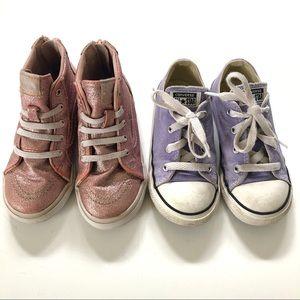Girls Converse/Vans Sneaker Lot Size 10